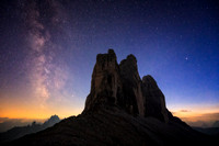 Tre Cime di Lavaredo At Night