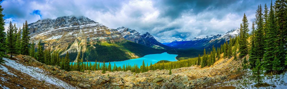 Peyto Lake Panorama, Alberta, Canada