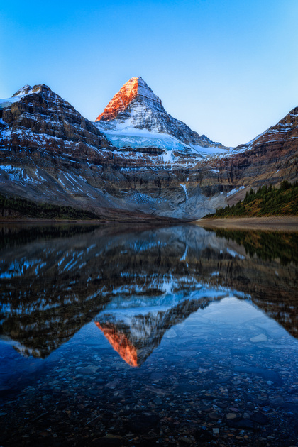 Reflections of Mt Assiniboine, British Columbia, Canada