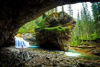Boulder in Johnston Canyon, Alberta, Canada